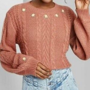 Wild fable woman's sweater with embroidery size S